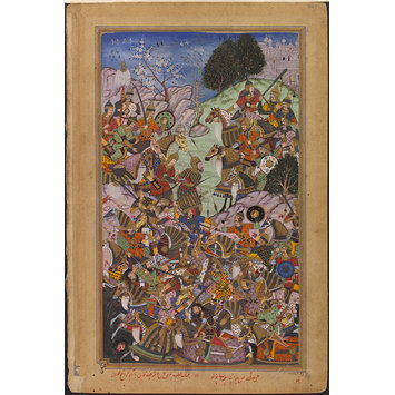 Painting - The Victory of the Imperial Mughal Army over Sultan Adam