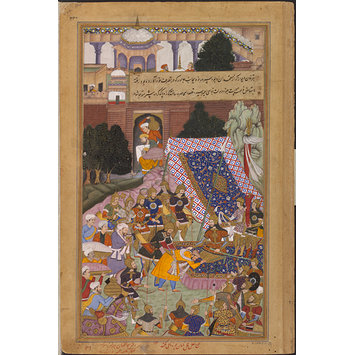 Painting - Tarkhan Divana and Husain Quli Khan