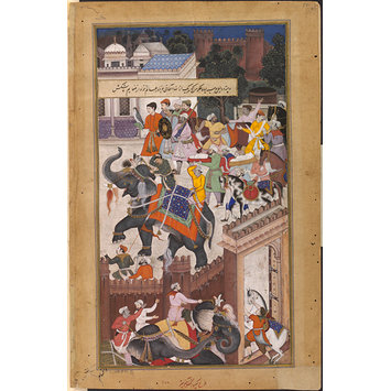 Painting - The Submission of the rebel brothers Ali Quli and Bahadur Khan