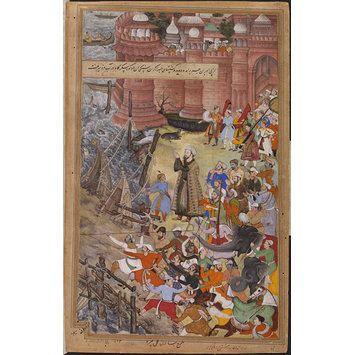 Painting - Akbar's adventures with the elephant Hawa'i
