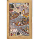 Battle Scene with Boats on the Ganges (Painting)