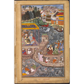 Painting - An Interview between Mu'nim Khan and Khan Zaman in a Boat on the Ganges