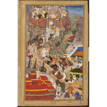 Painting - Akbar's entry into the fort of Ranthambhor