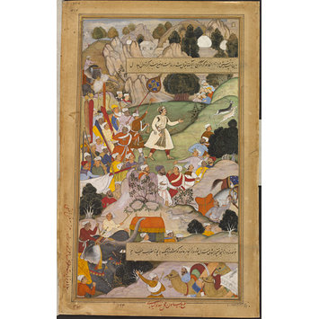 Painting - Akbar's pilgrimage to Ajmer in thanksgiving for the birth of Prince Salim
