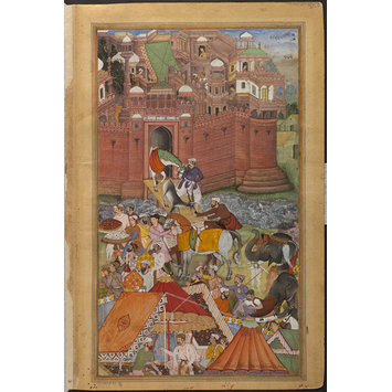 Painting - Akbar Receives Trophies of War from Asaf Khan