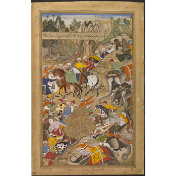 Painting - The Wounding of Khan Kilan by Rajputs