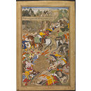 The Wounding of Khan Kilan by Rajputs (Painting)
