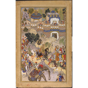 Painting - Akbar's Triumphant Entry into Surat