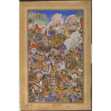 Painting - The Battle Preceding the Capture of the Fort at Bundi, Rajasthan, in 1577