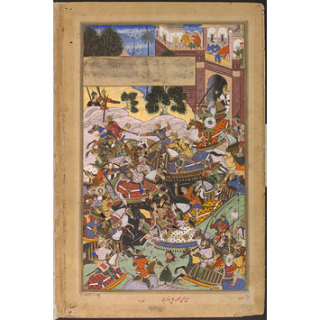 Painting - Mirza Ibrahim Husain Hunting, and his Defeat by the Imperial Troops