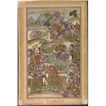 Painting - Battle of Sarnal in Gujarat
