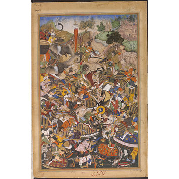 Painting - The Victory of Qutb ad-Din Khan over Muhammad Husain Mirza at Gujarat