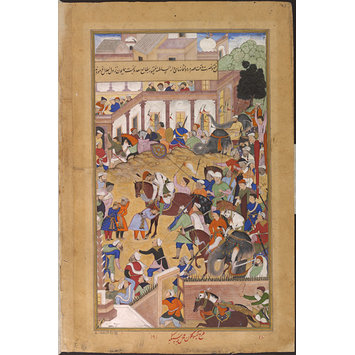 Painting - Akbar's victorious return to Fatehpur Sikri