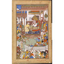 Akbar receives the boy Abdu'r Rahim at court (Painting)