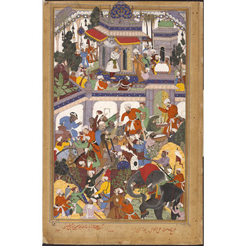 Painting - Akbar visits the tomb of Khwajah Mu'in ad-Din Chishti at Ajmer