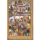 Akbar visits the tomb of Khwajah Mu'in ad-Din Chishti at Ajmer (Painting)