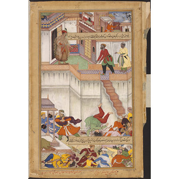 Painting - Akbar Orders the Punishment of his Foster Brother Adham Khan