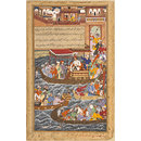 Akbar Travels by Boat to Agra (Painting)