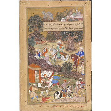 Painting - Bairam Khan's widow and child are escorted to Ahmedabad