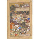 Bairam Khan's widow and child are escorted to Ahmedabad (Painting)