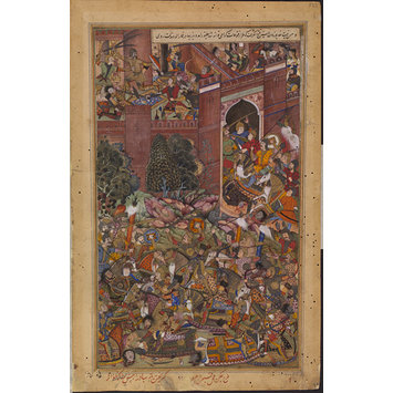 Painting - The Defeat of Baz Bahadur of Malwa by the Imperial Mughal Troops