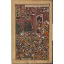 The Defeat of Baz Bahadur of Malwa by the Imperial Mughal Troops (Painting)