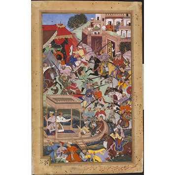 Painting - Bairam Khan is Assassinated by an Afghan at Patan