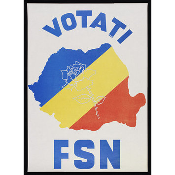 Poster - Vote FSN [National Salvation Front]; Pro-democracy Poster Collection