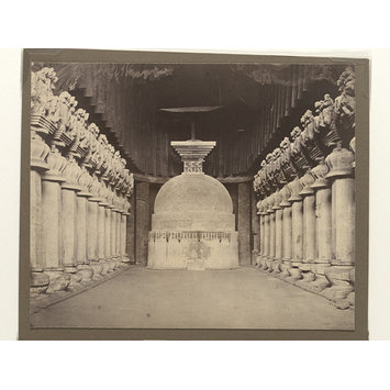 Photograph - Interior of the Great Chaitya Hall at Karle