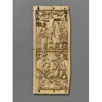 Panel - Scenes from the Passion of Christ; The Crucifixion, the Deposition from the Cross, The Entombment and the Lamentation