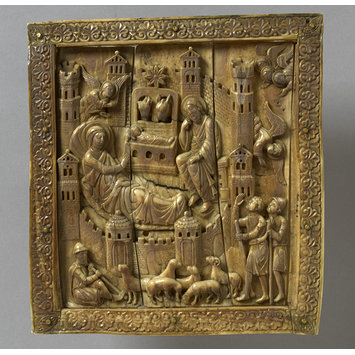 Plaque - The Nativity and Annunciation to the Shepherds