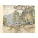 Cutting Timber, Aix-les-Bains (Watercolour)