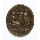Hercules between Minerva and Venus (Plaquette)