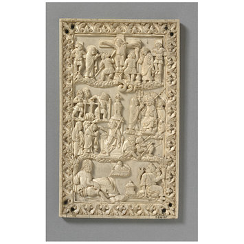 Panel - The Crucifixion and the Maries at the Sepulchre (for the reverse)