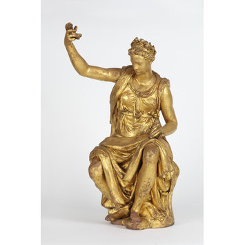 Statuette - Thetis; Fame; Seated female figure