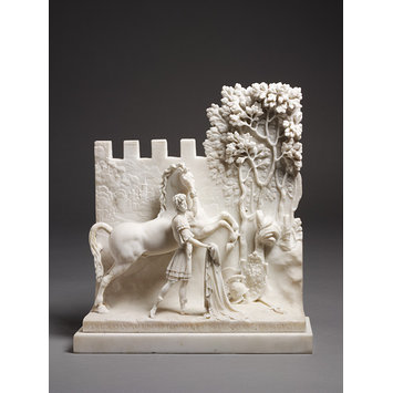 Relief - Youth Leading a Rearing Horse; Alexander and Bucephalus