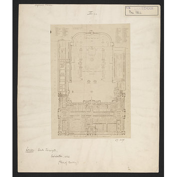 Photograph - Plan of the buildings and grounds for the International Exhibition of 1862 and the Royal Horticultural Society Gardens