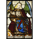 Arms of Isabella of Bourbon with angel supporter (Panel)