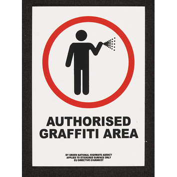 Sticker - Authorised Graffiti Area