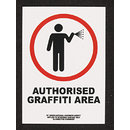 Authorised Graffiti Area (Sticker)