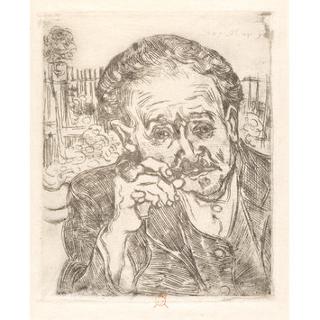 Print - L'Homme  la Pipe; Portrait of Dr. Paul Gachet