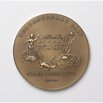 Medal - Linnaean Tercentenary Medal; Tercentenary of the Linnean Society; Tercentenary of the Linnean Society