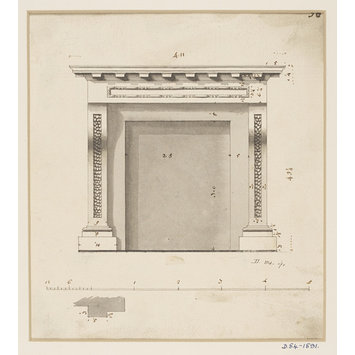 Design - Design for a chimney-piece with a dentilled cornice