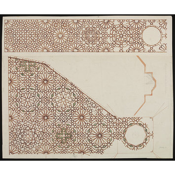 Drawing - Drawing of wall decoration from the Alhambra