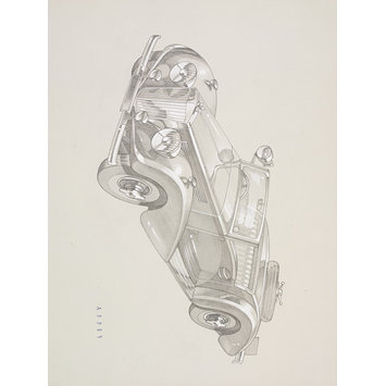 Drawing - Drawing of a car
