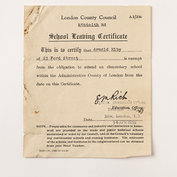 School leaving certificate