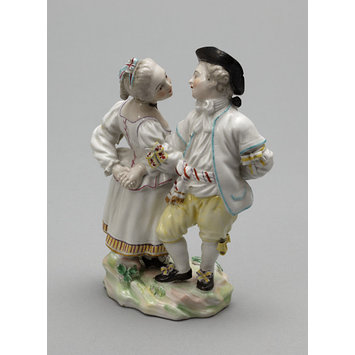 Figure group - Boy and girl dancing a reel