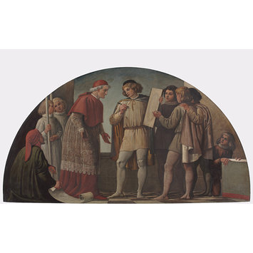 Oil painting - Freehand Drawing: Giotto's Round O