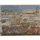A Procession of Ghazi ud-Din Haider through Lucknow. (Painting)
