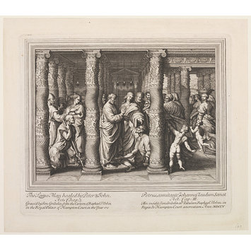 Print - The Seven Famous Cartons [sic] of Raphael Urbin; The Healing of the Lame Man; St. Peter and St. John Healing the Lame Man; Raphael Cartoons